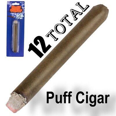 12 FAKE PUFF CIGAR Smoke Powder Ash Magic Trick Joke Gag Lit Prop Prank Smoking (Cigar Puff)