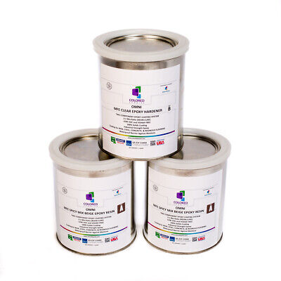Dark Beige Epoxy Resin 100 Solids For Garage Floorplywoodconcrete.3quart Kit