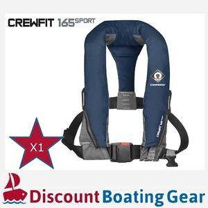 1x NAVY CREWSAVER CREWFIT SPORT 165N Inflatable PFD Manual Lifejacket Boating