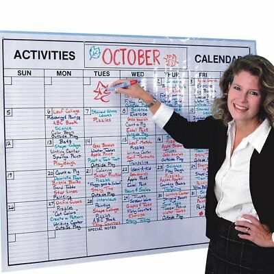 Whiteboard Monthly Calendar Planner Jumbo Erasable Room Office Dry Erase Board ()