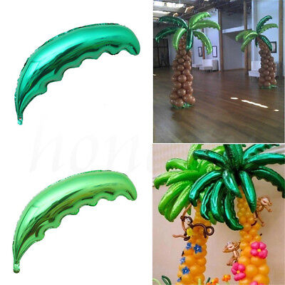 Tropical Palm Tree Leaf Green Beach Party Balloon Wedding Party Xmas - Palm Tree Leaf Balloons