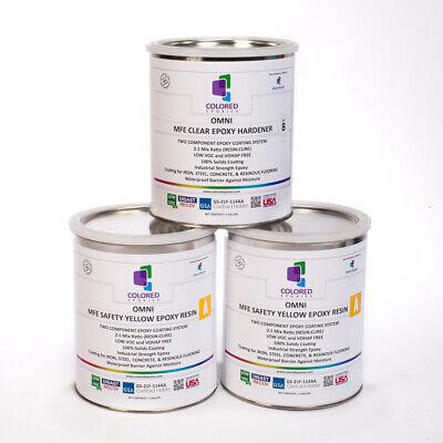 Yellow Epoxy Resin 100 Solids For Garage Floorplywood Concrete. 3 Gallon Kit