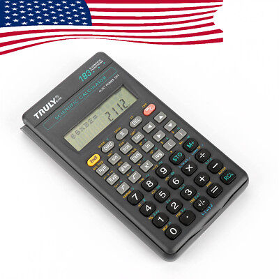 Truly SC-118B US Ship LCD Scientific Calculator Electronic 183 Functions Student
