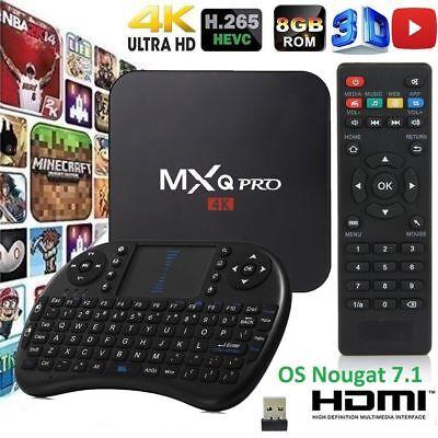 MXQ Pro 4K S905W 64-bit Android 7.1 1G+8GB DDR4 4K 3D Smart TV Box KEYBOARD 17.6
