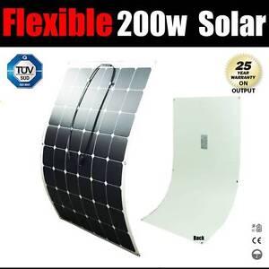 200W 12V Flexible Solar panel Kit Caravan Camping Power Mono Char Wangara Wanneroo Area Preview