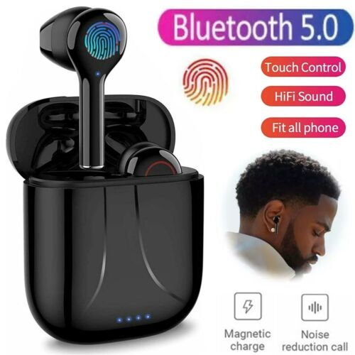 Noise Reduction Bluetooth 5.0 Headset Wireless Earphones Earbuds Stereo Sport US Cell Phone Accessories