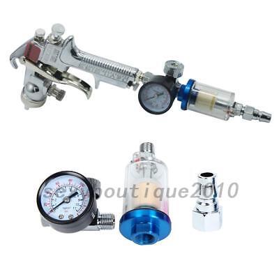 UK Scratch Doctor Mini Air Pressure Regulator Gauge + In-line Spray Gun Filter