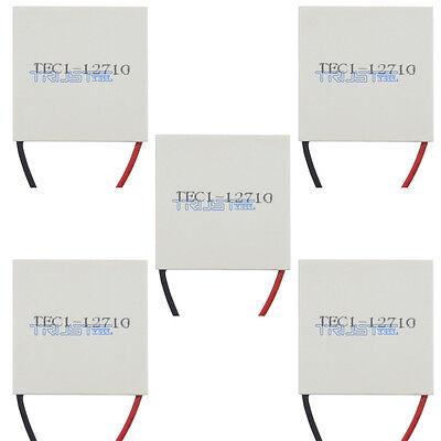 5pcs New 12v Tec1-12710 Heatsink Thermoelectric Cooler Peltier Plate Module Usa.