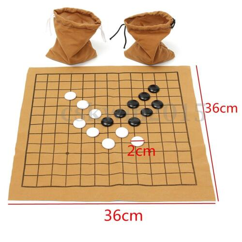 90Pcs Go Bang Chess Game Set Suede Leather Sheet Board Children Educational Toy