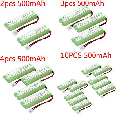 EBL Lot 500mAh Cordless Phone NI-MH Battery For Vtech BT18443 BT28443 LS-62255
