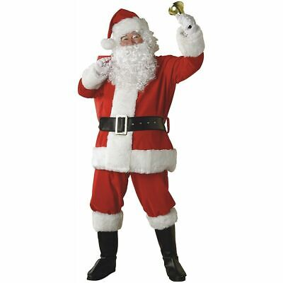 Santa Outfit Adult (USA Santa Claus Costume Adult Suit Christmas Outfit Fancy)