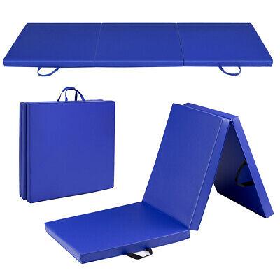 blue tri fold gymnastics mat 6 x2