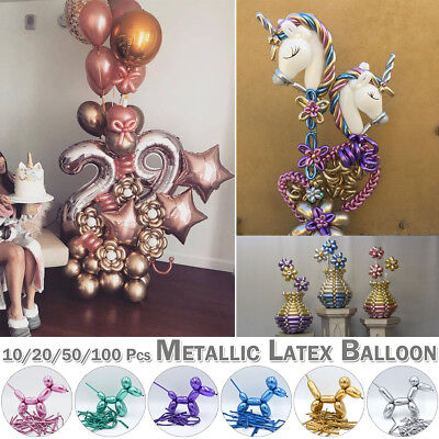 Long Metallic Latex Magic Balloons Wedding Birthday Party DIY Modeling Balloons - Magic Birthday Party