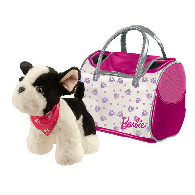 Barbie französische Bulldogge Plüsch Hund Plüschtier Kuscheltier mit Tasche ()