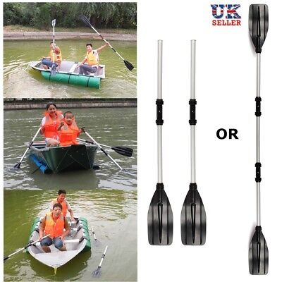 UK Detachable Paddle Aluminum Afloat 2Pcs 125cm Oars Kayak Boat Rafting Canoe