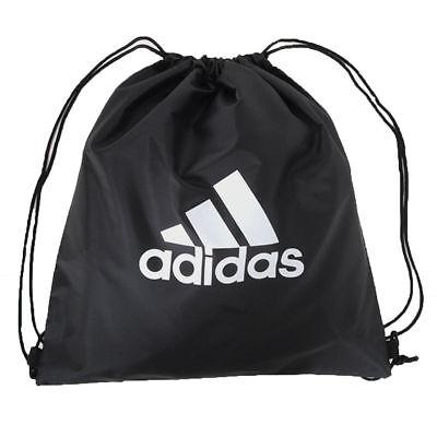 Adidas Gymsack Shoes Yoga Bag Drawstring Backpack Gym Bag Pouch Sack Black