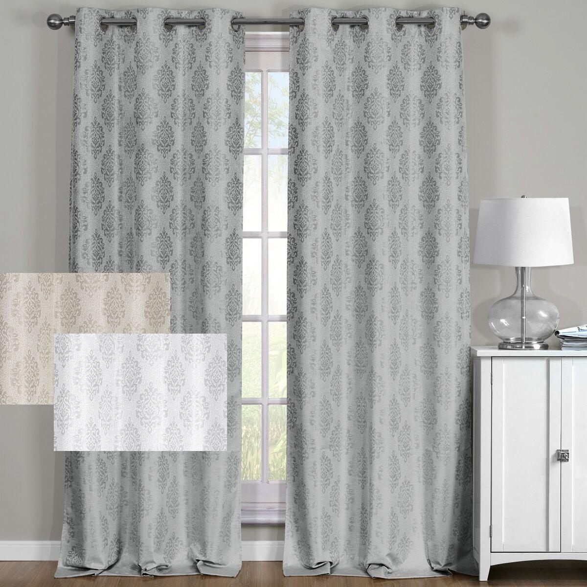 Paisley 100% Blackout Window Curtain Panels Heat and Full Li