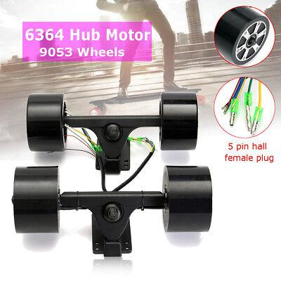 Electric Skateboard Longboard 90mm Dual 6364 Hub Motors Drive Parts Brushless US