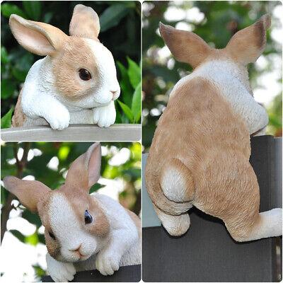Gartenfigur Dekofigur Skulptur Tier Deko Figur Hase Kaninchen frostfest 22 cm