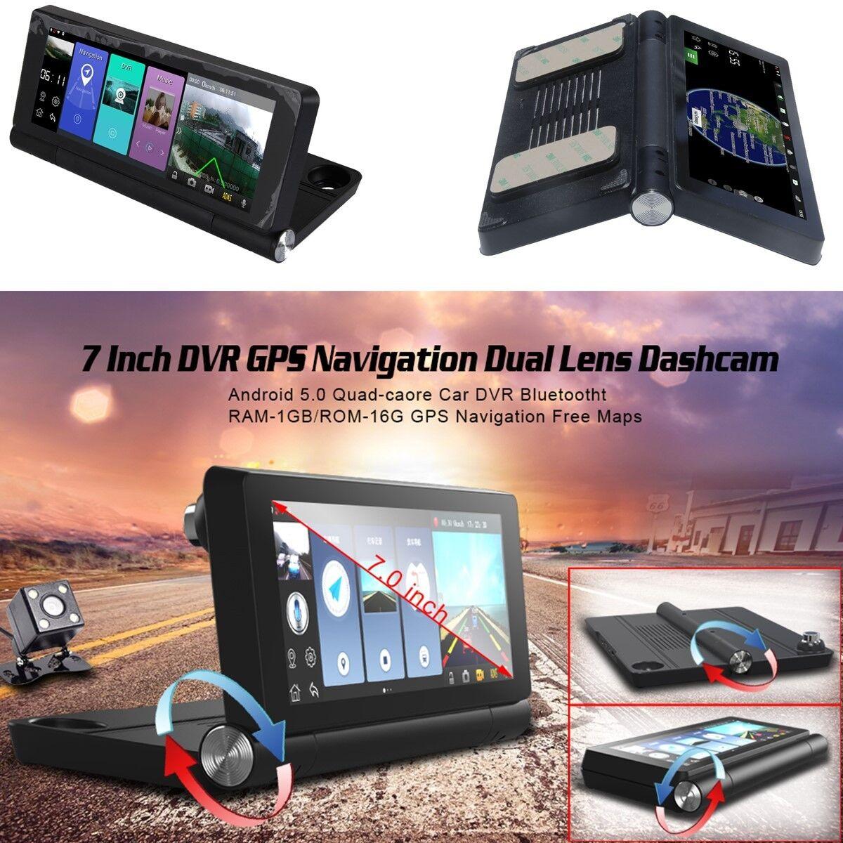 7 Touch Screen Vehicle Car Center Console DVR GPS Video Recorder G sensor ADAS