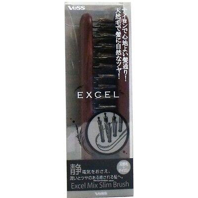 JAPAN VESS EXCEL MIX SLIM BRUSH PIG & NYLON HAIR FOLDABLE EXC-630