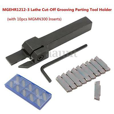 10pcs Mgmn300 Inserts Mgehr1212-3 Lathe Cut-off Grooving Parting Tool Holder