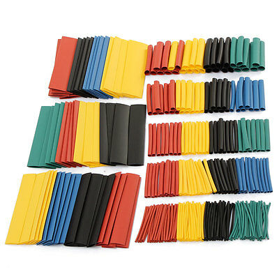 328pcs 8sizes Assorted Polyolefin 21 Heat Shrink Tubing Sleeving Wrap Wire Kit