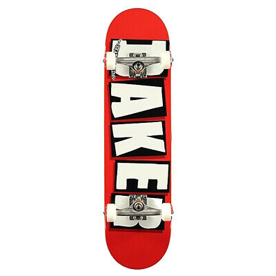 Baker Skateboard Factory Assembled Complete Logo Red/White 7.75""