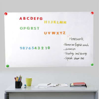 Adhesive Magnetic Dry Erase Board Roll Sticker For Wall With 2 Markers 48 X 36