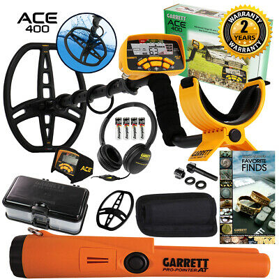 Garrett ACE 400 Metal Detector Anniversary Special w/ Pinpointer, Box, and Book