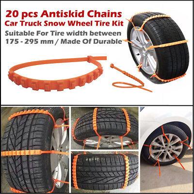 20X Car Truck Snow Wheel Tire Antiskid Anti Skid Chains Thickened Tendon Nylon