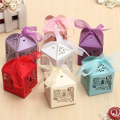 r Cut Candy Gift Boxes With Ribbon Wedding Party Favors (Candy Tower)