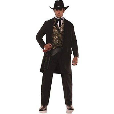 Riverboat Gambler Adult Costume Suit Maverick Movie Western Mens Gambling Casino