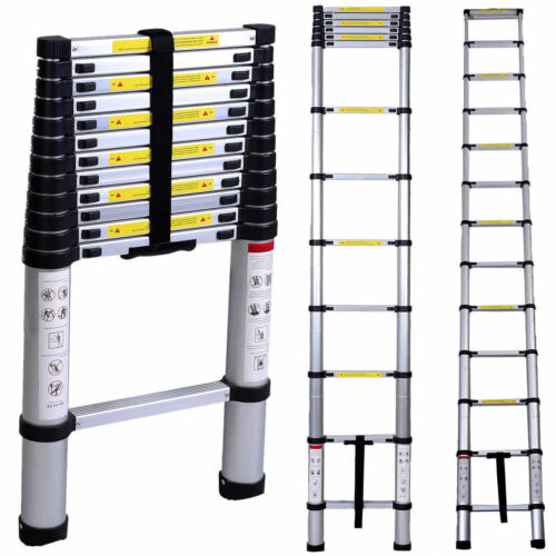 Telescopic Extension Ladder Heavy Duty Giant Aluminum 12.5 Feet Multi Purpose
