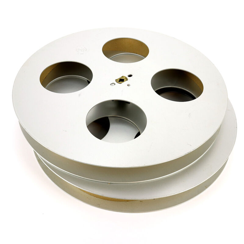 "Vintage 2 GB Goldberg Bros 35mm Film Reels 15"" Round"