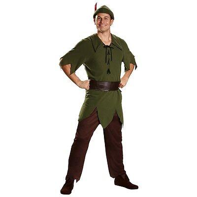 Peter Pan Costume Adult Disney Halloween Fancy Dress - Peter Pan Mens Costume