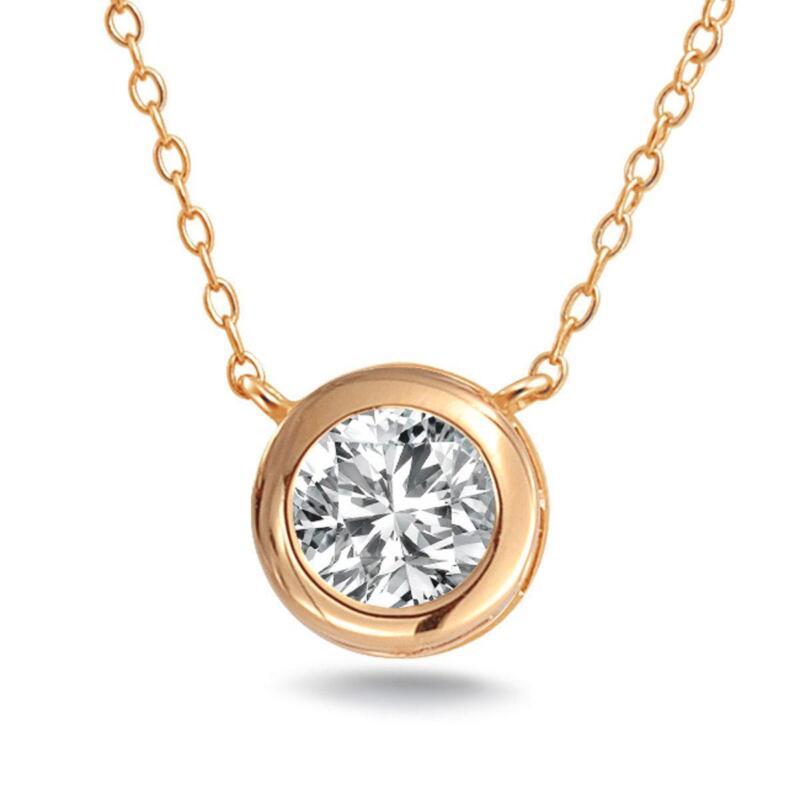 14k rose gold charm ebay 14k rose gold necklace aloadofball Gallery