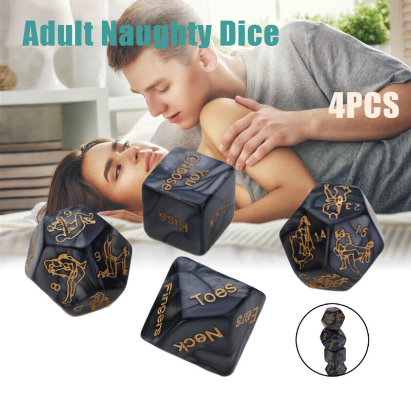 4Pcs Saucy Adult Naughty Couples Lover Dice Sex Position Rom
