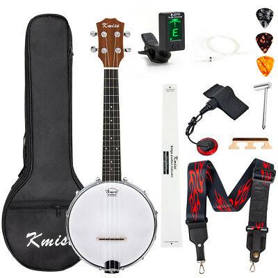 Banjolele Banjo Ukulele Kit Concert Size 23 inch With Gig Ba