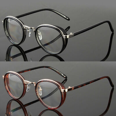 Round Steampunk Mens Womens Clear Lens Retro Fashion Eye Glasses Hipster (Circular Glasses Men)