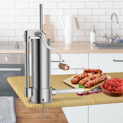 6l 10lb Sausage Stuffer Maker Meat Filler Stainless Steel Commercial Restaurant