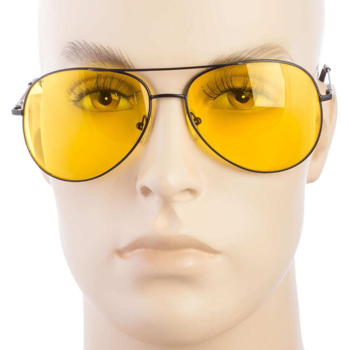 97116920e29b Мужские солнцезащитные очки SPORT AVIATOR HD NIGHT DRIVING PILOT SUNGLASSES  YELLOW HIGH DEFINITION GLASSES