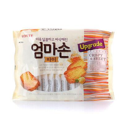 Korean Snack LOTTE EOMMASON PIE 254g Delicious Crispy Sweet Good For Coffee