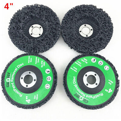 100Mm 4  Poly Wheel Paint Rust Removal Clean Angle Grinder Discs Strip   4Pcs