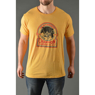 Roots Of Fight Cassius Heavyweight Champ T Shirt   Yellow