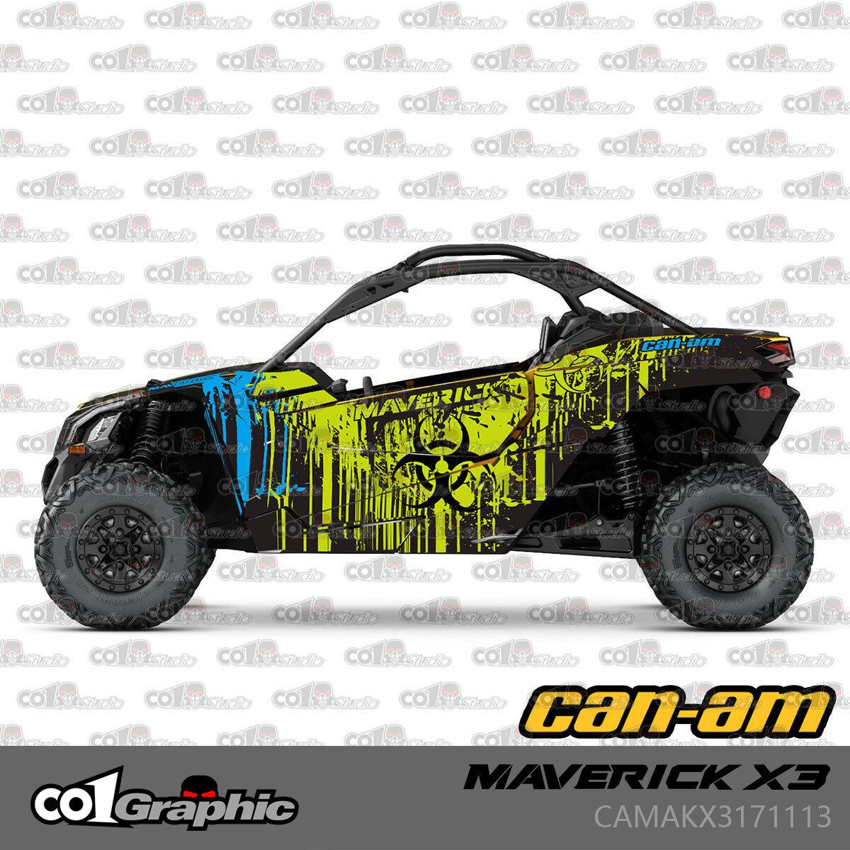 SIKSPAK Can Am Maverick X3 Full Graphic Kit Wrap Sticker Parts 2016 REBIRTH U