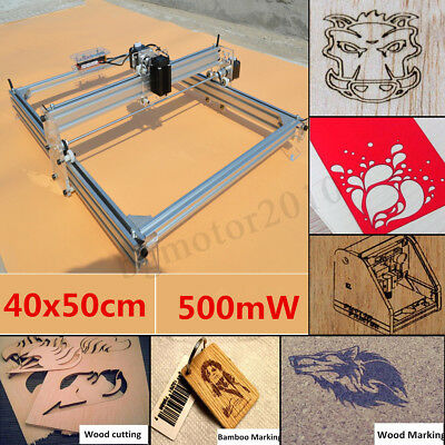 40x50cm Mini Laser Engraving Machine 500mw Marking Wood Printer Diy Logo