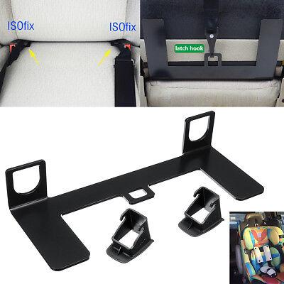 Universal Steel Latch ISOFIX Connector Car Child Safety Seat Belt Buckle Bracket
