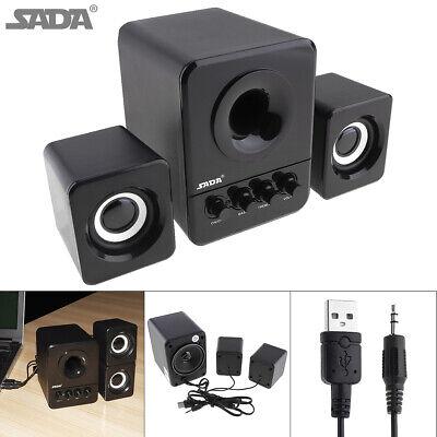 Computer Speakers 2.1 USB Desktop PC Laptop Audio Player Sys