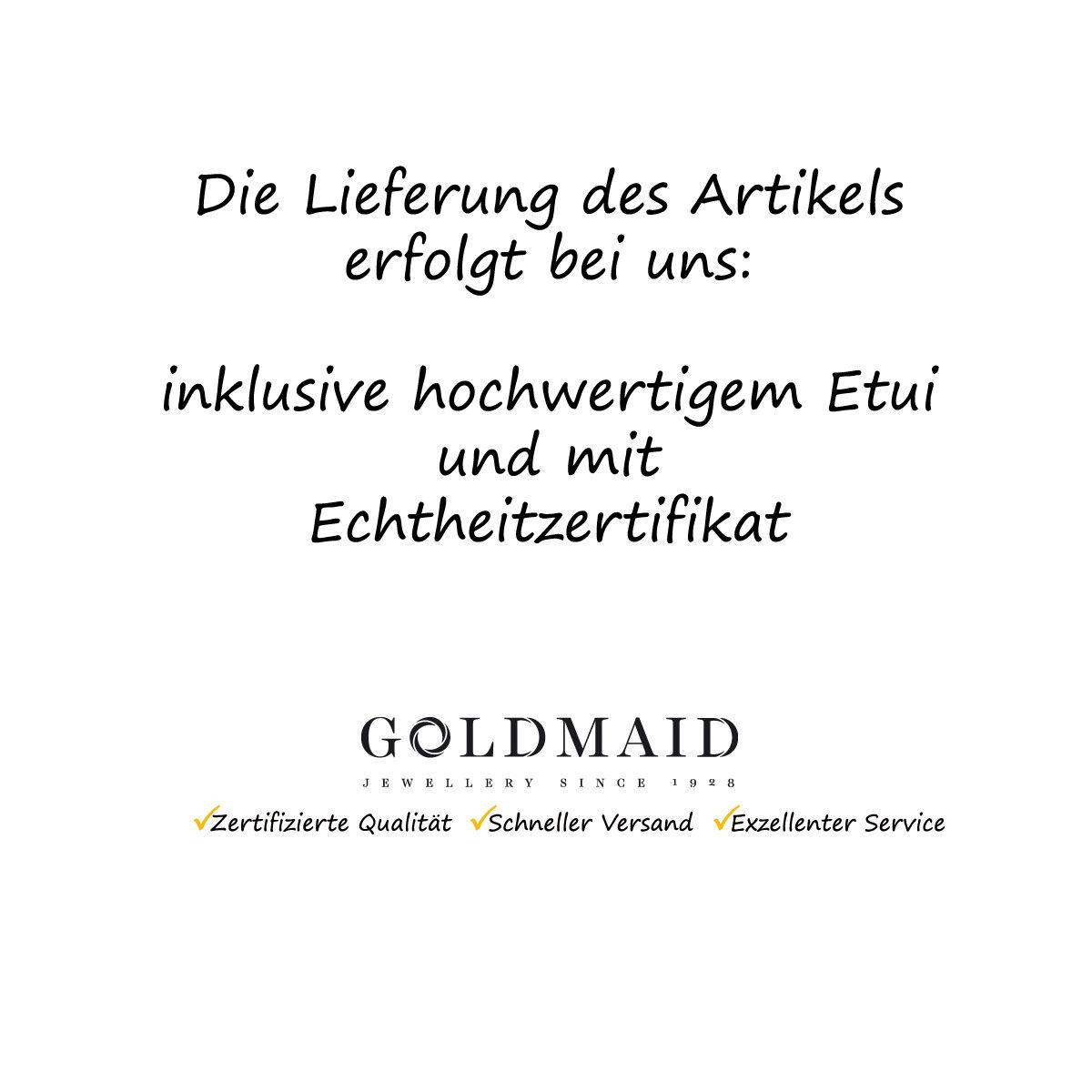 Goldmaid Ohrringe Ohrstecker 925 Sterlingsilber Perlen Süßwasserperlen 6,5-7mm
